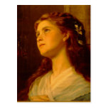 Sophie Gengembre Anderson Portrait Of Young Girl E Post Cards