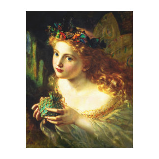 Sophie Gengembre Anderson: Take the Fair Face of Canvas Prints