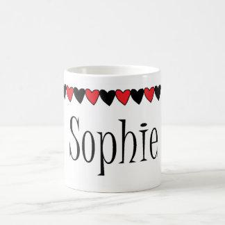 Sophie Hearts Name Coffee Mug