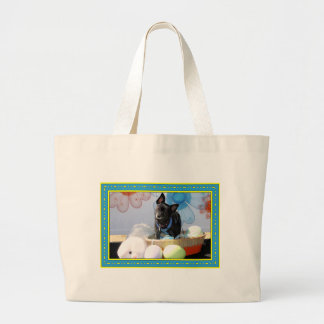 Sophie - Pom Terrier Mix -4 Jumbo Tote Bag