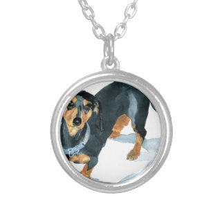 Sophie the Dachshund Silver Plated Necklace