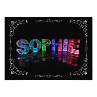 Sophie  - The Name Sophie in 3D Lights (Photograph Photo Print