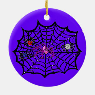 Sophie the Spider caught in her web Ceramic Ornament
