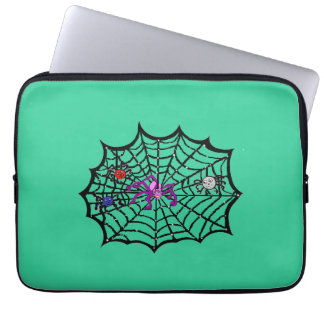 Sophie the Spider caught in her web Computer Sleeves