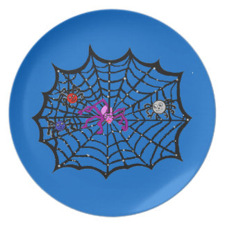 Sophie the Spider caught in her web Dinner Plate