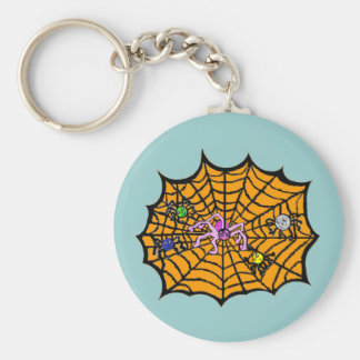 Sophie the Spider caught in her web Keychain