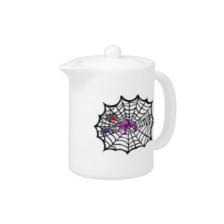 Sophie the Spider caught in her web Teapot