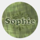 Sophie verde etiquetas