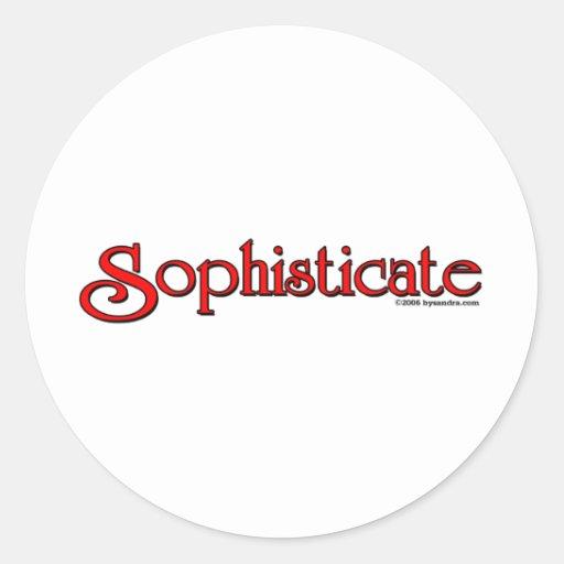 Sophisticate Classic Round Sticker