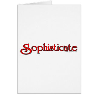 Sophisticate Greeting Card