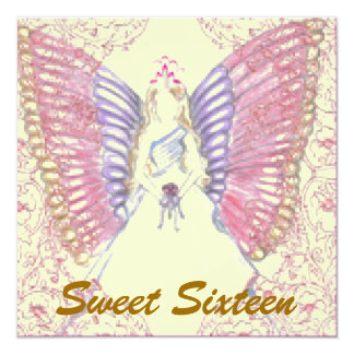 """Sophisticated Angelic S- 16 Pastels Invitation 5.25"""" Square Invitation Card"""