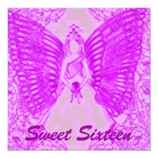 Sophisticated Angelic S-16 Purple/Pink Invitation