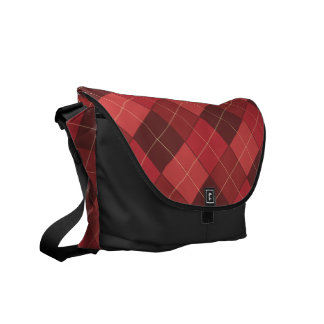 Sophisticated Argyle in Red, Red, Red Courier Bag