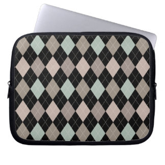 Sophisticated Argyle in Subtle Pastel Computer Sleeve