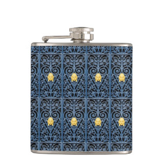 Sophisticated Art Deco Wrought Iron Flask 1