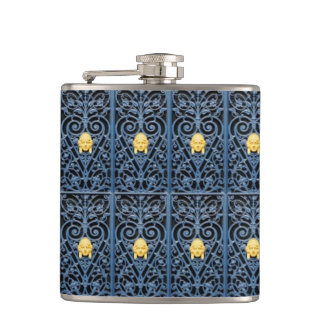 Sophisticated Art Deco Wrought Iron Flask 2