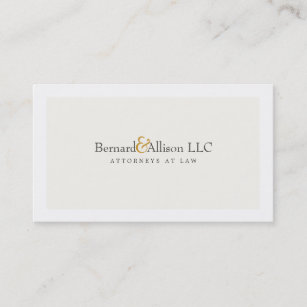 Off white business cards templates zazzle sophisticated attorney off white business card colourmoves