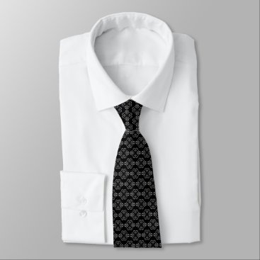 Professional Business Sophisticated black and grey damask neck tie