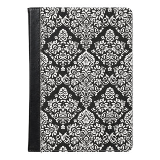 Sophisticated Black and White Royal Damask Pattern iPad Air Case
