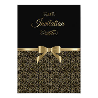 Sophisticated Black & Gold Party Template Card