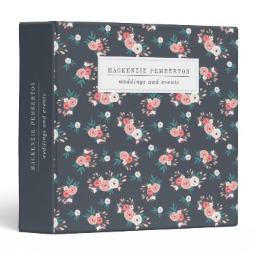 Professional Business Sophisticated Botanicals Business Binder