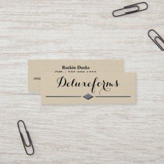 Sophisticated Boulder Diamond Line Mini Business Card