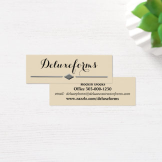 Sophisticated Boulder Diamond Line Mini Business Card