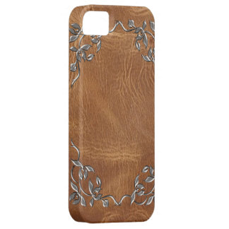 Sophisticated  brown Western Leather iphone5 case