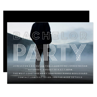 Sophisticated Chic Bachelor Party Photo Invitation