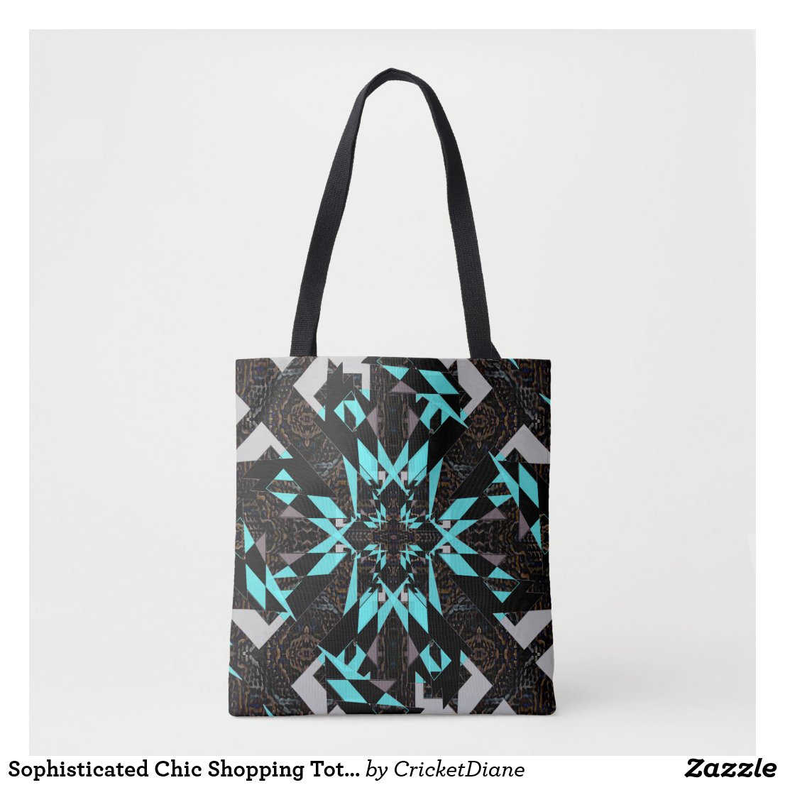 Sophisticated Chic Shopping Tote Bag