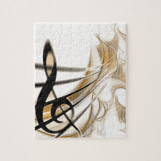 Sophisticated classic music sheet design accessory jigsaw puzzle