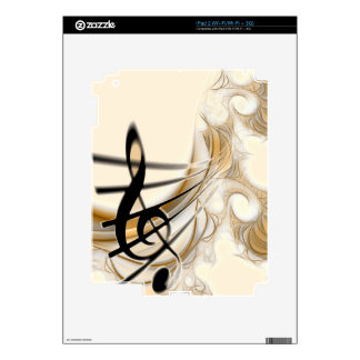 Sophisticated classic music sheet design accessory skins for the iPad 2