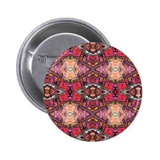 Sophisticated Colored High End Fractal Pattern Button
