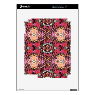 Sophisticated Colored High End Fractal Pattern Decals For The iPad 2