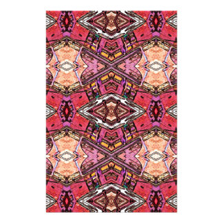 Sophisticated Colored High End Fractal Pattern Stationery