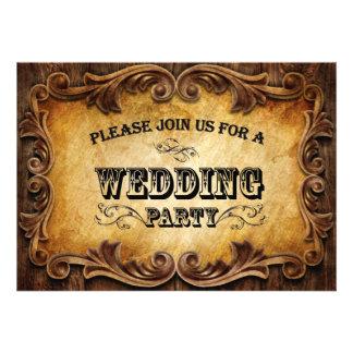 Sophisticated CowBoy Western Wedding invitation