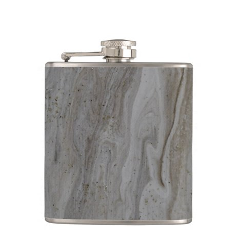 Sophisticated Customized Abstract Silver Flask
