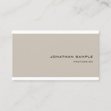 Sophisticated Design Trendy Simple Modern Plain Business Card