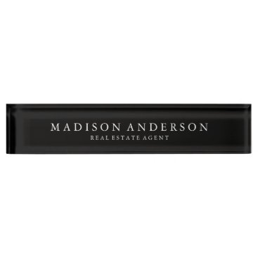 Professional Business Sophisticated | Desk Name Plate