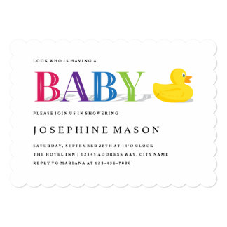Sophisticated Duck Baby Shower Invitation