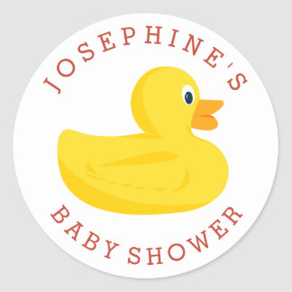 Sophisticated Duck Baby Shower Stickers