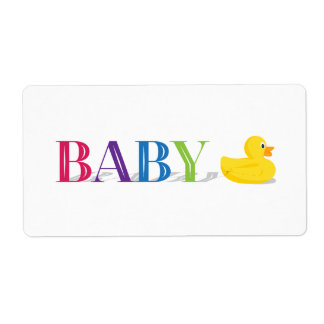 Sophisticated Duck Gender Neutral Baby Labels