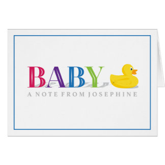 Sophisticated Duck Rainbow Baby Thank You Cards