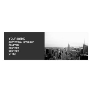 Sophisticated Edgy Cityscape Business Card Template