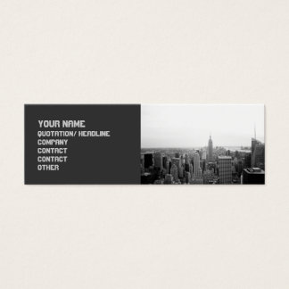 Sophisticated Edgy Cityscape Mini Business Card