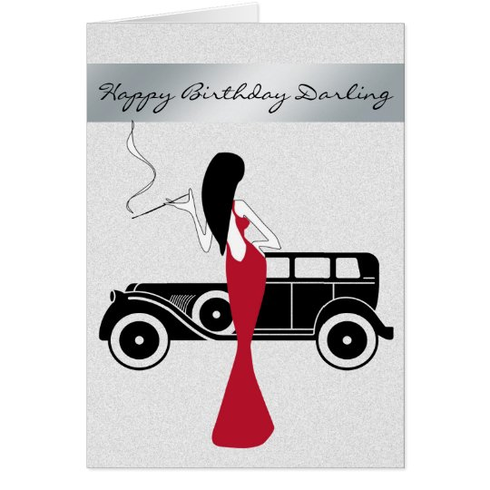 Sophisticated Elegant Chic Woman Happy Birthday Card – Sophisticated Birthday Cards