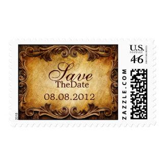 Sophisticated Elegant  western vintage wedding Stamps