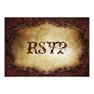Sophisticated Elegant western vintage wedding RSVP Custom Invitation