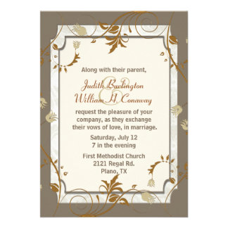 Sophisticated Fall Wedding Invitation