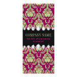 Sophisticated Feminine fashion fuschia damask Rack Card